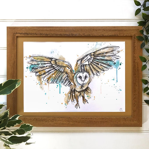 """BARN OWL"" Giclée Fine Art Print"