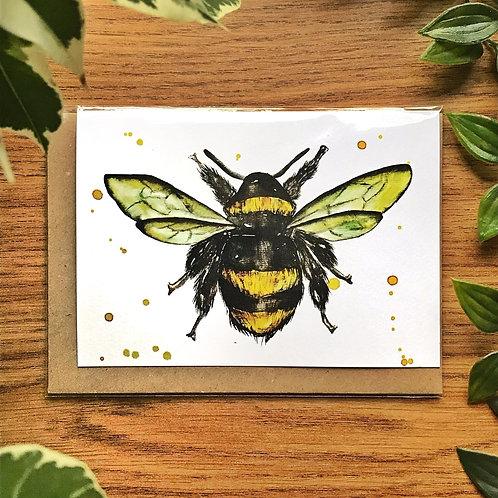 Bumblebee - Greetings Card