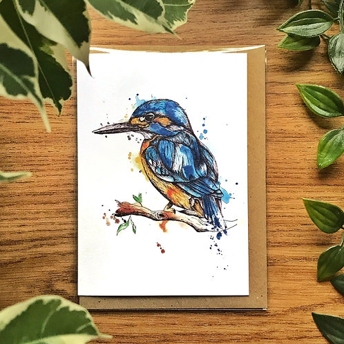 Kingfisher - Greetings Card