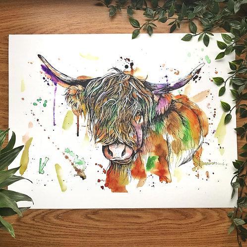 """""""HIGHLAND COW"""" Giclée Fine Art Print"""