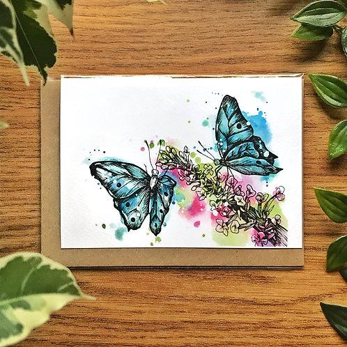 Butterfly Garden - Greetings Card