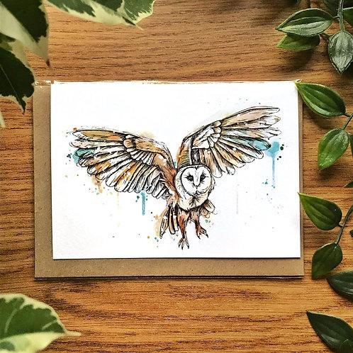 Barn Owl - Greetings Card