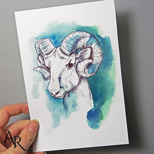 """Ram of Aries"" Fine Art Print"