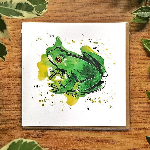 Frog - Greetings Card