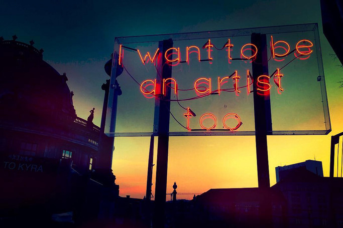 I want to be an artist too_