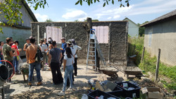 House building expedition in Moldova