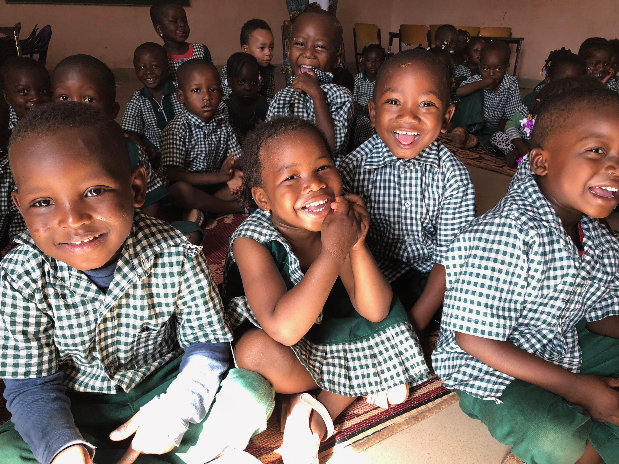 Smiling children in West Africa