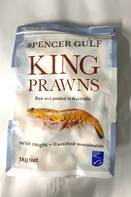 Australian Raw & Peeled Prawns - 1kg