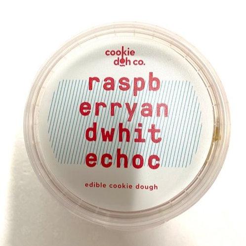 Raspberry and White Chocolate Edible Cookie Dough
