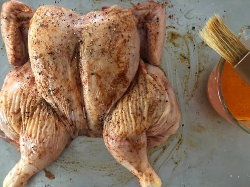 Whole Peri Peri Butterflied Free Range Chickens (marinated) Large 1.5kg +