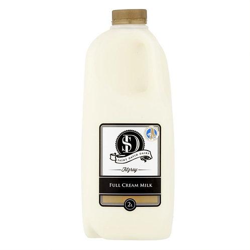 St David Dairy Full Cream Milk -  2 Litres