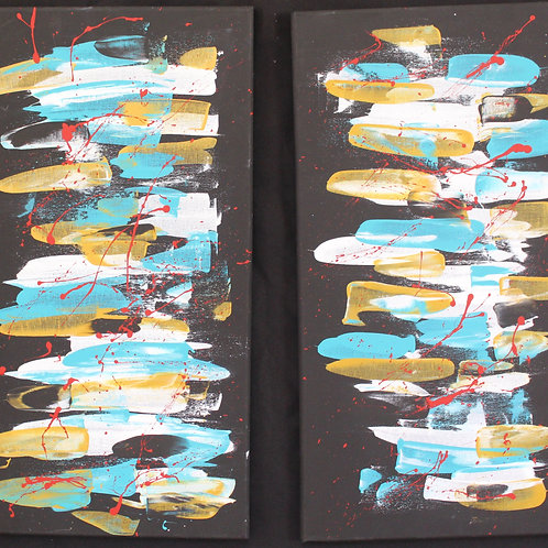"12""x 24"" Diptych 'I'm Possible'"