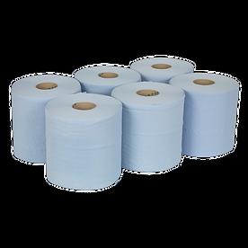 blu150 Paper Roll Blue 2-Ply Embossed 15