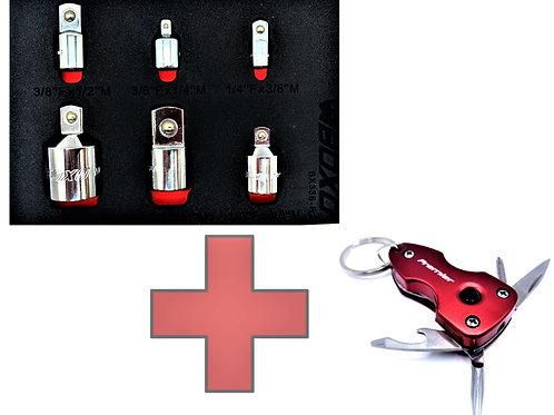 6pc Adapter Set + Multi Tool FREE