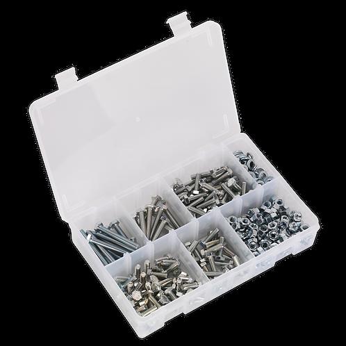 Setscrew, Nut & Washer Assortment 408pc High Tensile M6 Metric