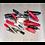 Thumbnail: Crocodile Clip Assortment 60pc Black & Red