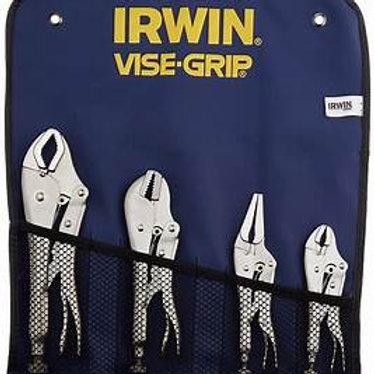 Irwin 4pc Vise Grip Set 10CR, 7R, 6LN, 5WR Mole Grips T71