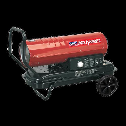 Space Warmer® Paraffin/Kerosene/Diesel Heater 70,000Btu/hr with Wheels - Sealey