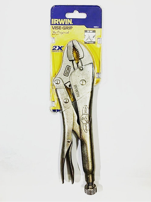 Curved Jaws Locking Pliers with Wire Cutter - Original
