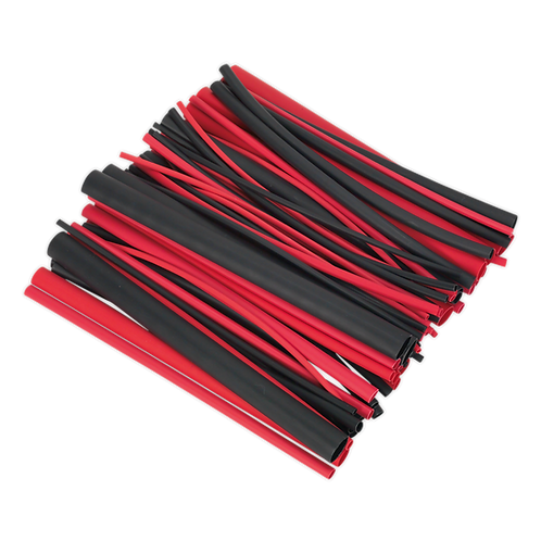 Heat Shrink Tubing Assortment 72pc Black & Red Adhesive Lined 200mm