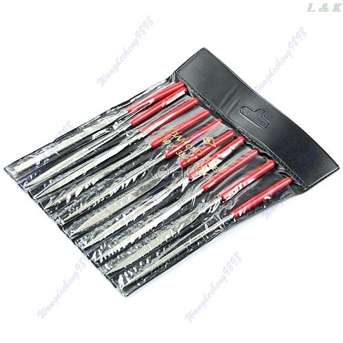 10Pcs 140mm Needle Files Set