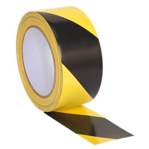 Hazard Warning Tape 50mm x 33m Black/Yellow