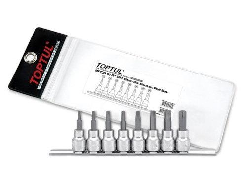 "3/8"" Dr. Torx Bit Socket Set on Rail"