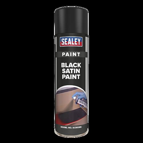 Black Satin Paint 500ml
