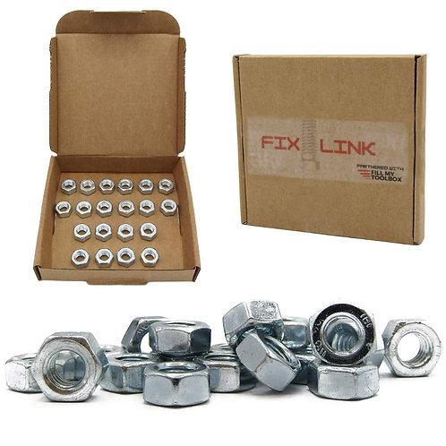 M8 (8mm) Steel Hex Nuts (Pack of 20)