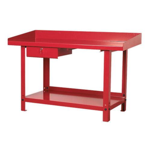 Workbench Steel 1.5m with 1 Drawer