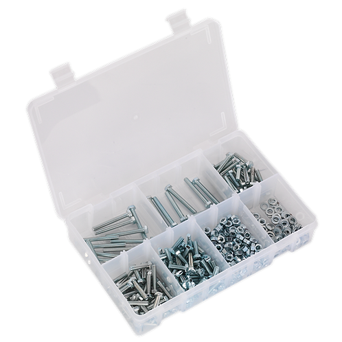 Setscrew, Nut & Washer Assortment 444pc High Tensile M5 Metric