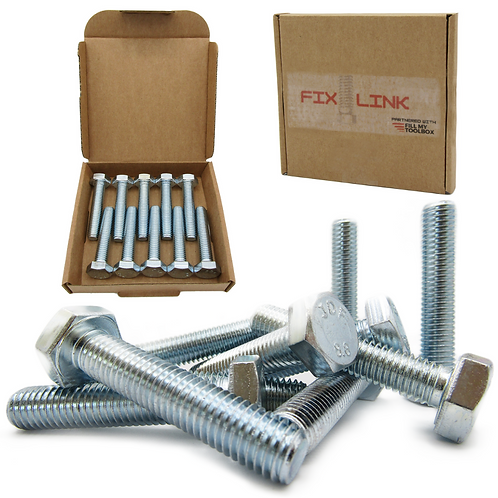 M10 Bolts (10mm x 50mm) Hex Bolts (10 Pack)