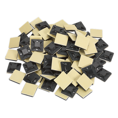 Self-Adhesive Cable Tie Mount 20 x 20mm Black Pack of 100