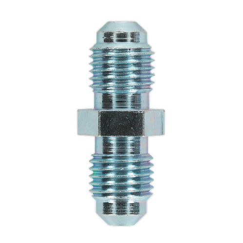 """Brake Tube Connector 3/8""""UNF x 24tpi Male to Male Pack of 10"""