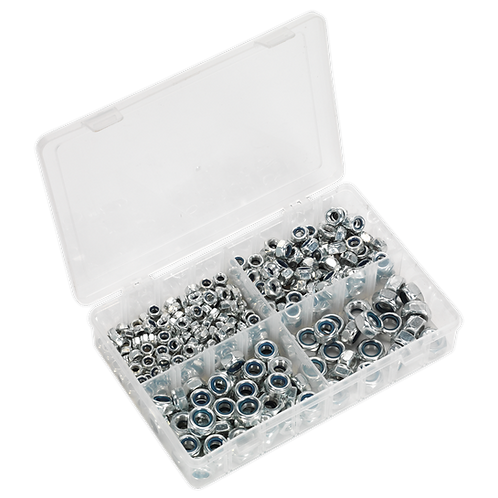 Nylon Lock Nut Assortment 300pc M6-M12 DIN 982 Metric