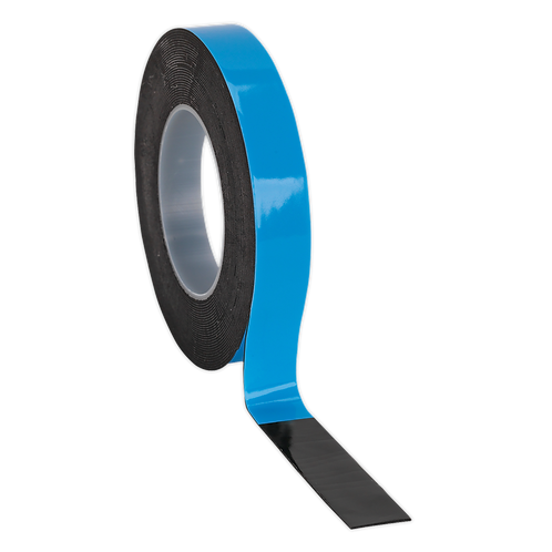 Double-Sided Adhesive Foam Tape 19mm x 5m Blue Backing