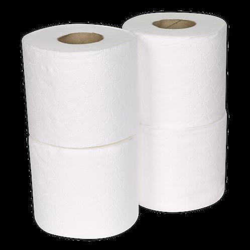 Toilet Roll Plain White Pack of 4 x 9 (36 Rolls)