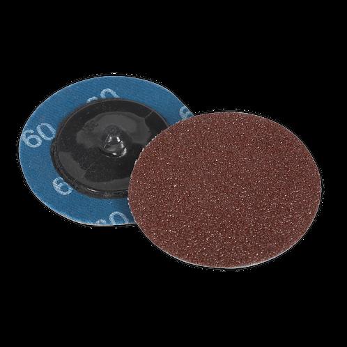 Quick-Change Sanding Disc Ø50mm 60Grit Pack of 10