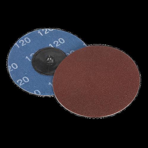 Quick-Change Sanding Disc Ø75mm 120Grit Pack of 10