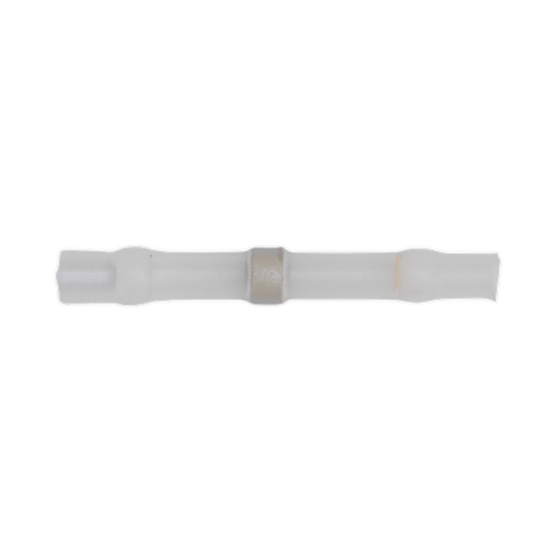 Heat Shrink Butt Connector Solder Terminal 24-22 AWG White Pack of 25