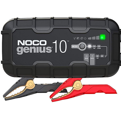 NOCO 6V & 12V 10 AMP BATTERY CHARGER, BATTERY MAINTAINER, AND BATTERY DESULFATOR