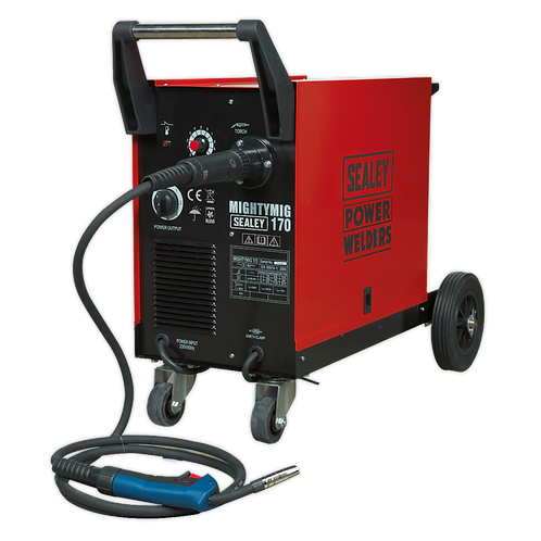 Professional Gas/No-Gas MIG Welder 170A with Euro Torch -Sealey