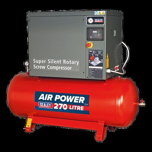 Screw Compressor 270L 10hp 3ph Low Noise - Sealey