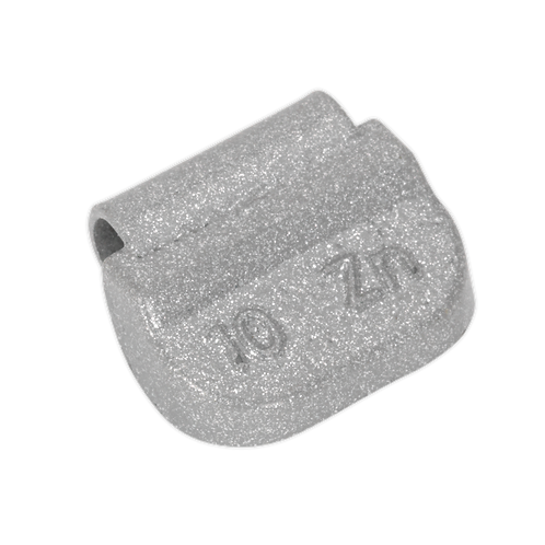 Wheel Weight 10g Hammer-On Zinc for Steel Wheels Pack of 100