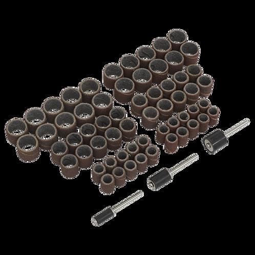 Micro Carbide Burr Set 5pc + Rotary Tool Sanding Bands Set 63pc FREE