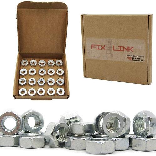 M10 (10mm) Steel Hex Nuts (Pack of 20)