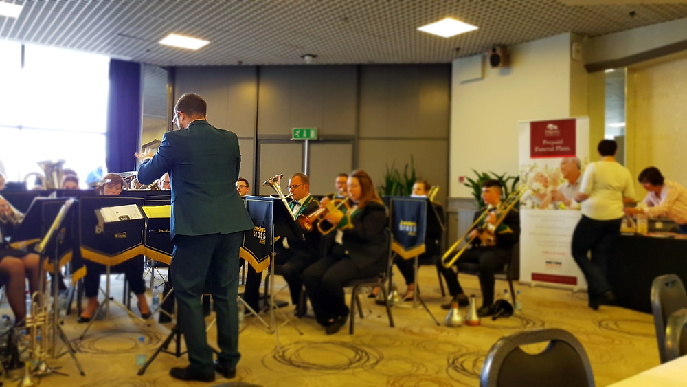 Chris Small leads the band at our Torquay getaway