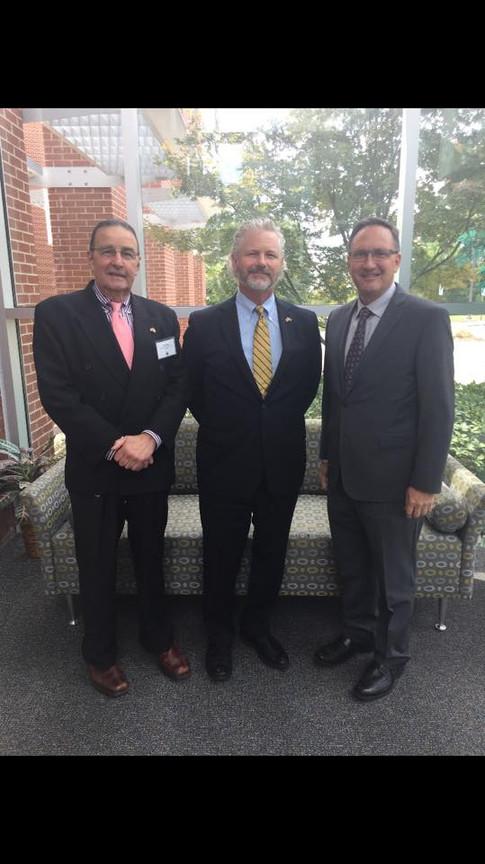 Allen Baker, Dr. Eric Weisel, and Marc Steiner