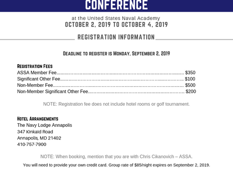ASSA Off-Site Conference at the United States Naval Academy Schedule and Registration