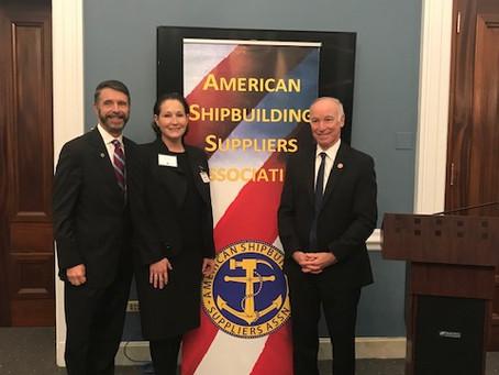 The American Shipbuilding Suppliers Association recognizes Congressman Joe Courtney as the 2019 reci